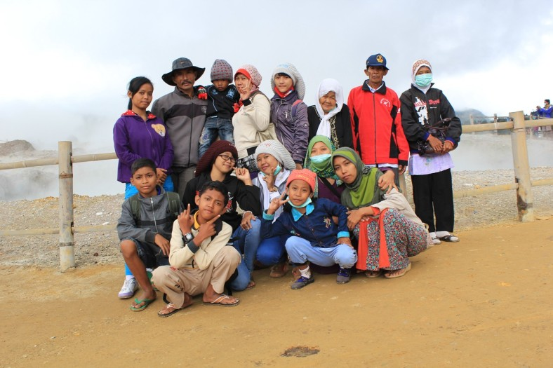 Weekly Photo Challenge:  Family Holiday at Sikidang Crater | Dieng - Wonosobo