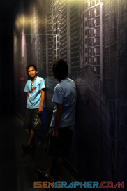 My reflection - at Bank of Indonesia Museum - Jakarta